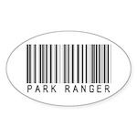 Park Ranger Barcode Oval Sticker (10 pk)