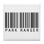 Park Ranger Barcode Tile Coaster