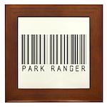 Park Ranger Barcode Framed Tile