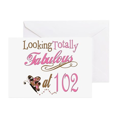 Fabulous 102nd Greeting Cards (Pk of 10)