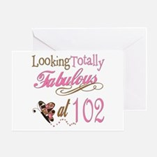 Fabulous 102nd Greeting Card