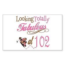 Fabulous 102nd Rectangle Decal
