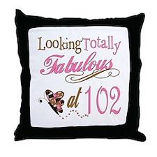 Fabulous 102nd Throw Pillow