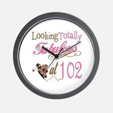 Fabulous 102nd Wall Clock