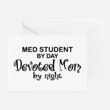 Med Student Devoted Mom Greeting Cards (Pk of 10)