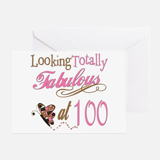 Fabulous 100th Greeting Card