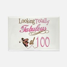 Fabulous 100th Rectangle Magnet