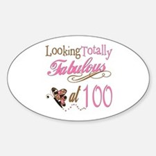 Fabulous 100th Oval Decal