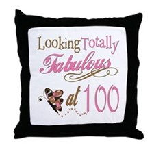 Fabulous 100th Throw Pillow