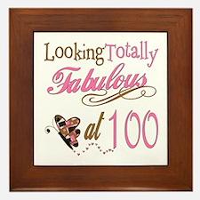 Fabulous 100th Framed Tile