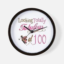 Fabulous 100th Wall Clock