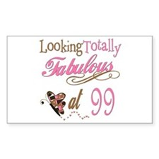 Fabulous 99th Rectangle Decal