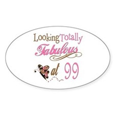 Fabulous 99th Oval Decal