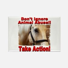 Don't ignore animal abuse! Rectangle Magnet