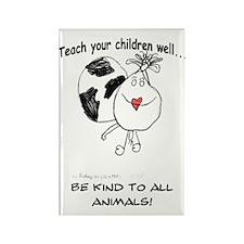 Teach your children well... Rectangle Magnet