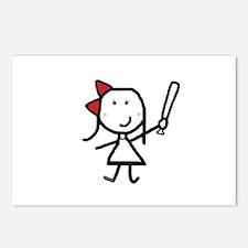 Girl & Baseball Postcards (Package of 8)