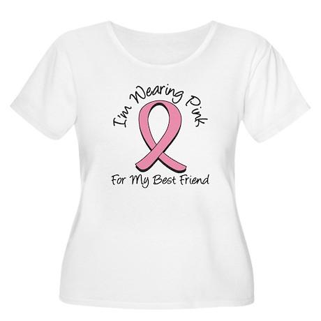 Pink Best Friend Women's Plus Size Scoop Neck T-Sh
