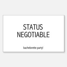 Bachelorette Status Negotiable Rectangle Decal