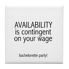 Availability Contingent Tile Coaster