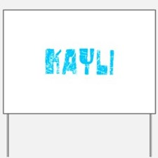 Kayli Faded (Blue) Yard Sign