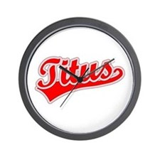 Retro Titus (Red) Wall Clock