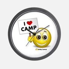 I Heart Camp Wall Clock