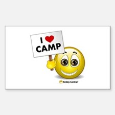 I Heart Camp Rectangle Decal