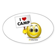 I Heart Camp Oval Decal
