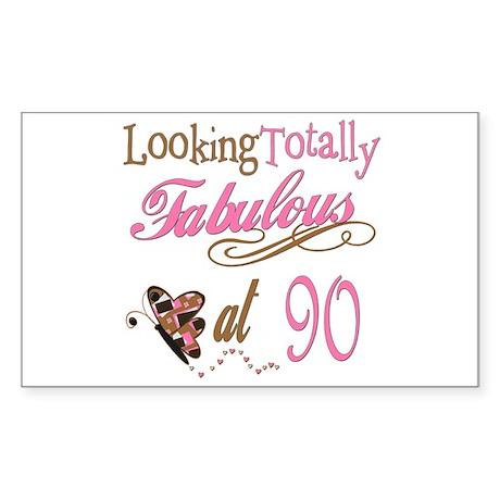 Fabulous 90th Rectangle Sticker