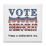 Vote Democrat Tile Coaster