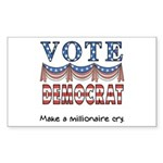 Vote Democrat Rectangle Sticker