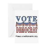 Vote Democrat Greeting Card