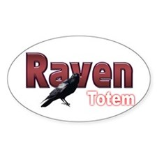 Raven Oval Decal