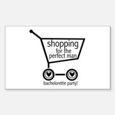 Bachelorette Shopping Rectangle Decal