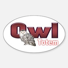 Owl Oval Decal