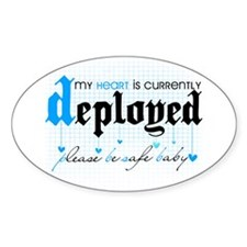 My Heart is Currently Deployed Oval Decal