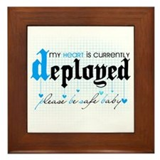 My Heart is Currently Deployed Framed Tile