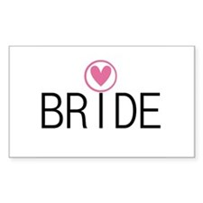 Hearts Bride Rectangle Decal