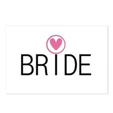Hearts Bride Postcards (Package of 8)