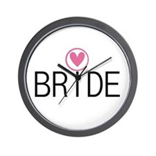 Hearts Bride Wall Clock