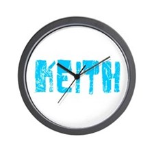 Keith Faded (Blue) Wall Clock