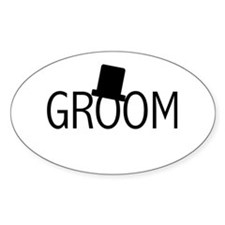 Top Hat Groom Oval Decal