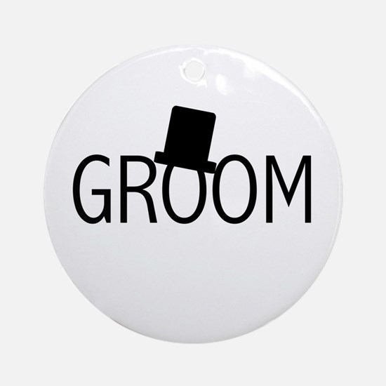Top Hat Groom Ornament (Round)