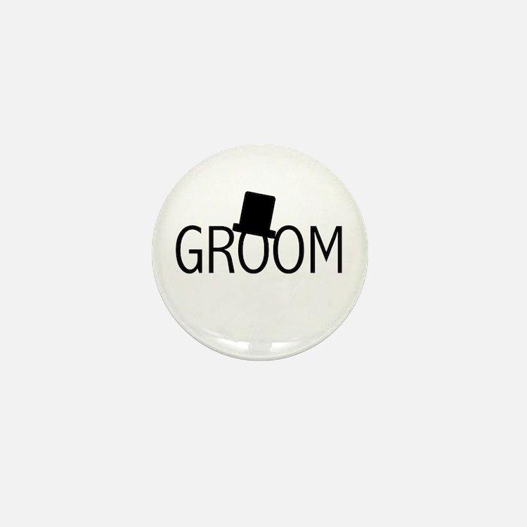 Top Hat Groom Mini Button