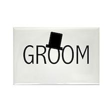 Top Hat Groom Rectangle Magnet