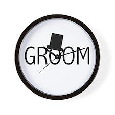 Top Hat Groom Wall Clock