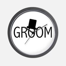 Top Hat Groom Wall Clock
