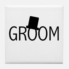 Top Hat Groom Tile Coaster