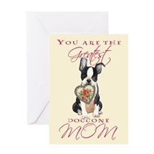 Boston I Love Mom Greeting Card