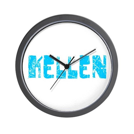 Kellen Faded (Blue) Wall Clock